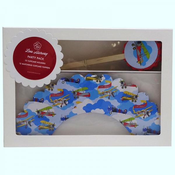 Alec the Aviator Cupcake Decorating Kit (24pc)