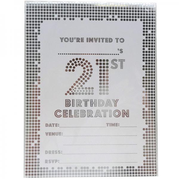21 st Party Invitation Pad