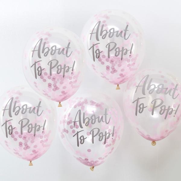 Oh Baby- Confetti Balloons Pink About to Pop (5)