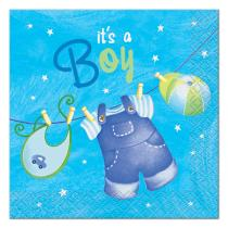 Blue Clothesline Beverage Napkin(16)
