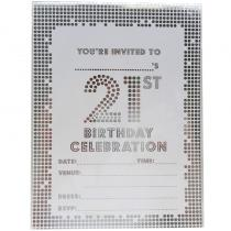 21 st Party Invitation Pad