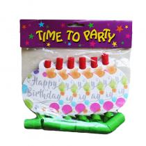 Birthday Colourful Spots Party Blowouts (6)
