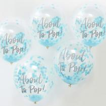 Oh Baby- Confetti Balloons Blue About to Pop (5)