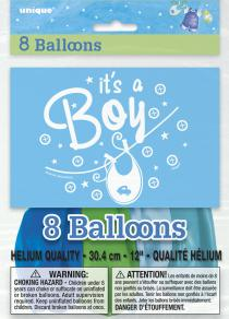 Blue Clothesline Boy Balloons(8)
